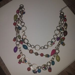 Beautiful multicolored beaded necklace